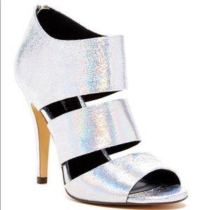 Sexy Iridescent Silver Heels